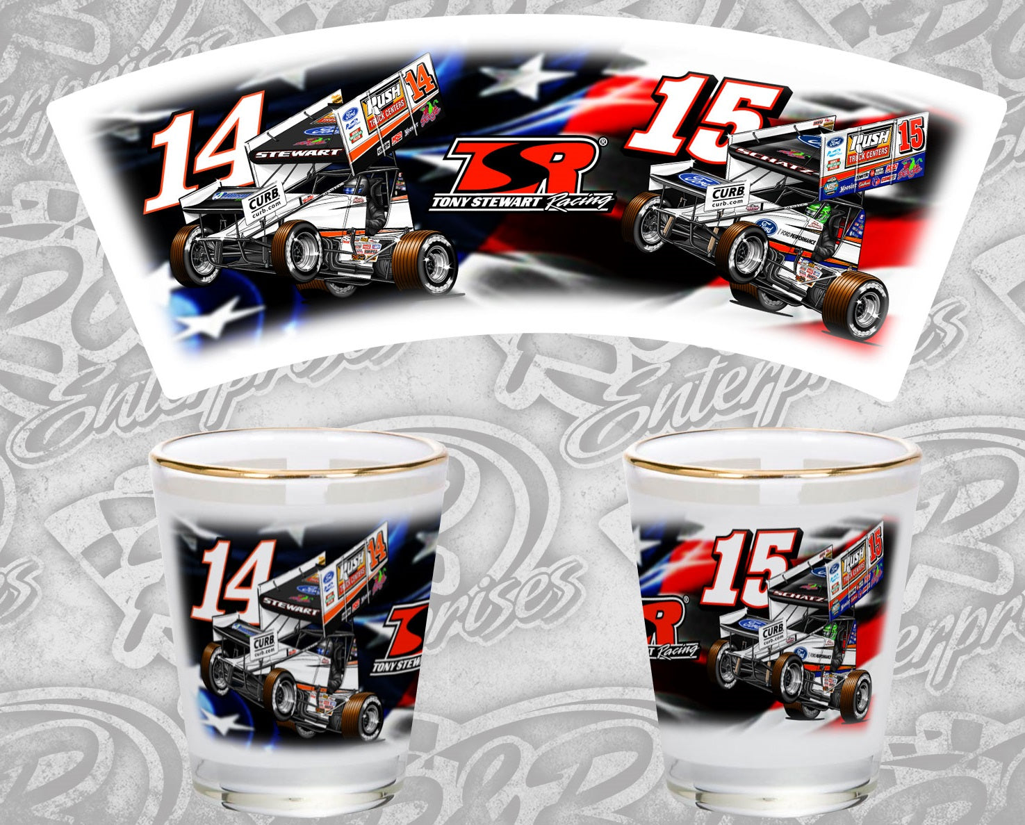 TSR Double Trouble Shot Glass