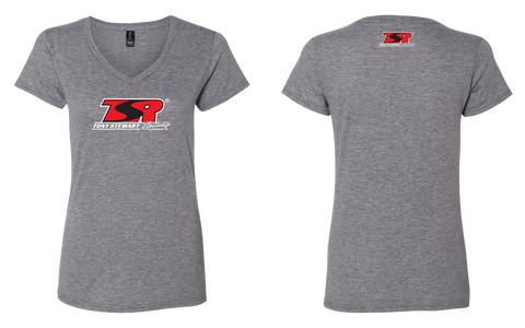 Ladies TSR Logo V-Neck Tees