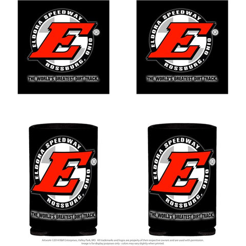 Big E Black Coozie