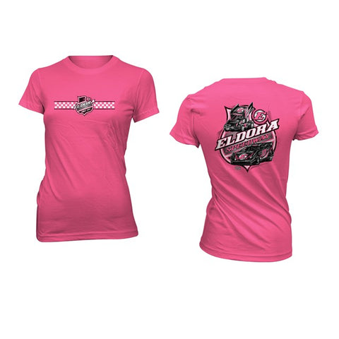 Colorless LADIES Big E Tee-Pink (2644694532196)