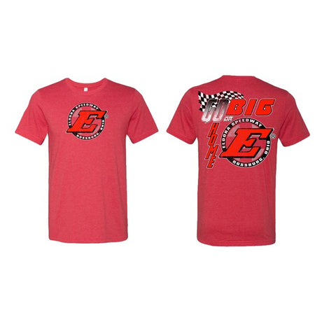 Go Big E Tee-Heather Red