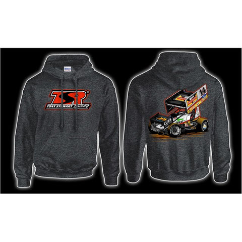 Car #14 Hoodie-Graphite Heather