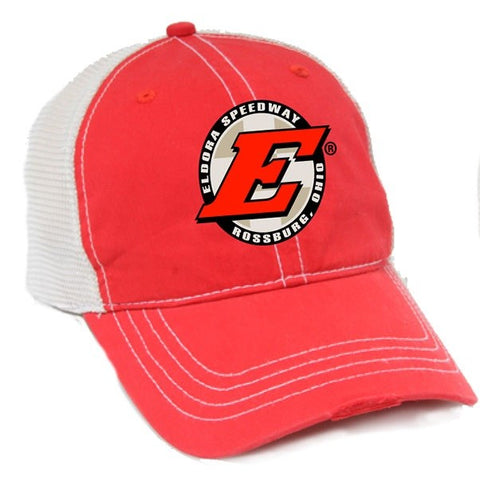 Eldora Red/Ivory Truck Hat