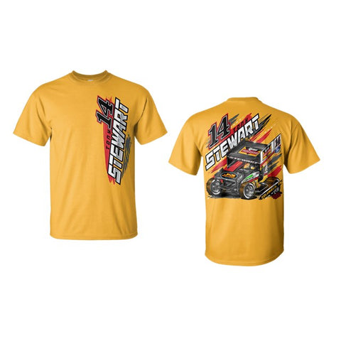 RUSH Racing Gold Tee