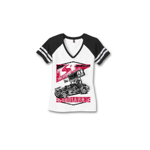 TSR Womens Retro V-Neck Tee