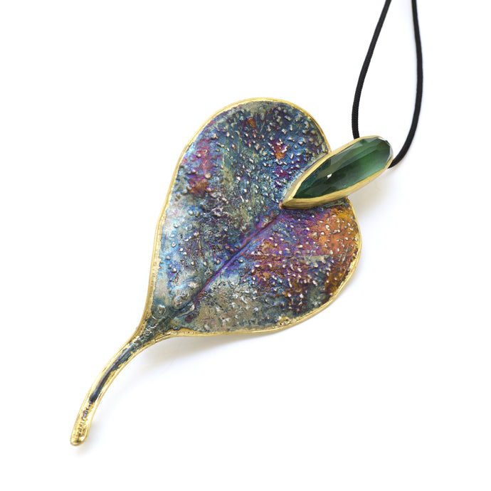 Eucalyptus Leaf Diotase Necklace - sifisjewellery Chaniajewellery Flowerjewellery Chania Flowerjewelery Flowersproducts