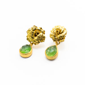 Kalanchoe Dioptase Earrings - sifisjewellery Chaniajewellery Flowerjewellery Chania Flowerjewelery Flowersproducts