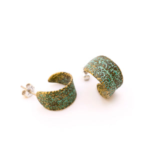 Small Sage Leaf Earrings