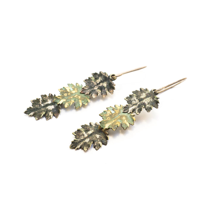 Chrysanthemum Leaves Earrings
