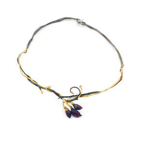 Olive Branch & Olive Pumise Necklace