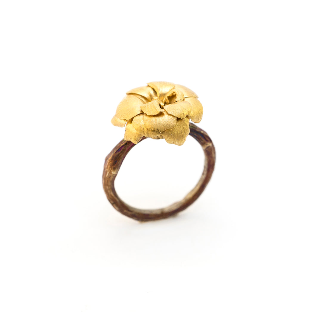 Kalanchoe & Olive Branch Ring