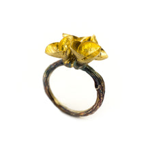 Load image into Gallery viewer, Euphorbia Milii flower Ring - sifisjewellery Chaniajewellery Flowerjewellery Chania Flowerjewelery Flowersproducts