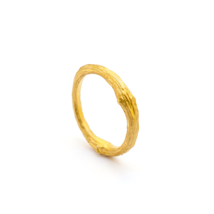 Olive Tree Branch Wedding Band