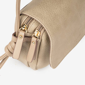 Bolso Bandolera Matties Lichi Color Taupe