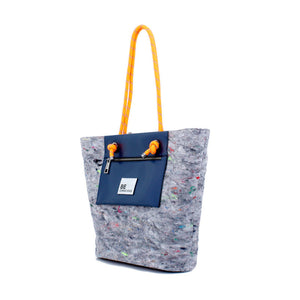 Bolso Shopping Reciclado BE CONSCIOUS Azul