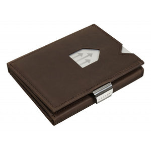Tarjetero Billetero Proteccion RFID Marron Nubuck