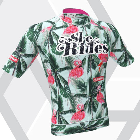 She Rides DAM TOR Short Sleeve Jersey [FLAMINGO]
