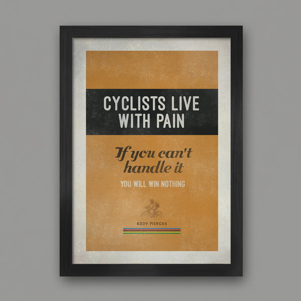 POSTERS - Eddie Merckx Quote - UNFRAMED