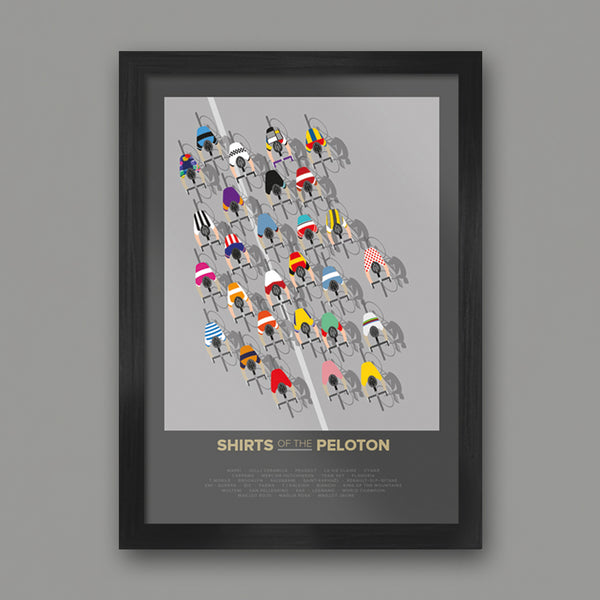 POSTERS - The Shirts of the Peloton - FRAMED