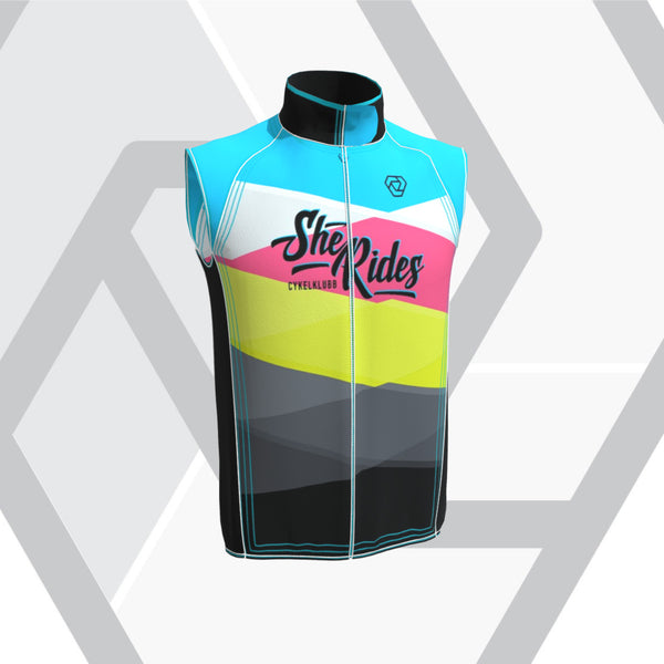 She Rides Cykelklubb [DAM] Vest Flight (no pockets) - Cykelklubb