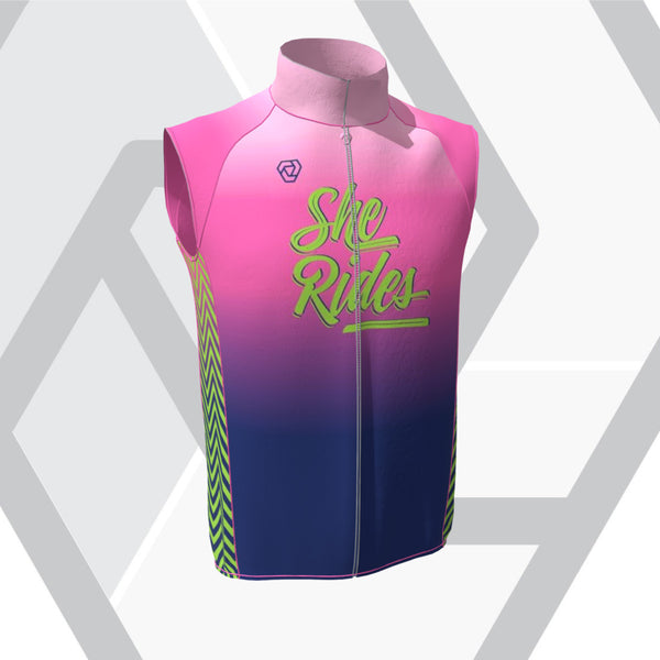 She Rides Cykelklubb [HERR] Vest Flight (no pockets) - 80s Kit