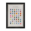 POSTERS - Cycling Jerseys - FRAMED