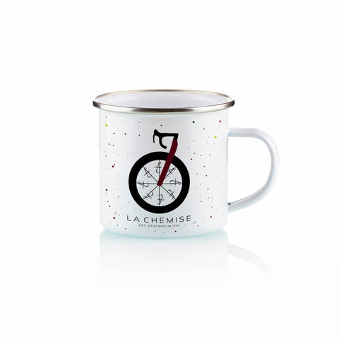 "MUG ENAMAL - ""WHEEL OF FORTUNE"""