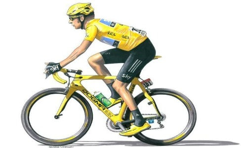 Greeting Card - Chris Froome - Team Sky