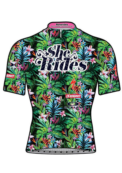 She Rides DAM TOR Short Sleeve Jersey [FLOWER]