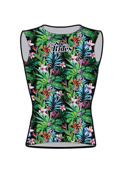 She Rides DAM Vest Flight 3 Pockets [FLOWER]