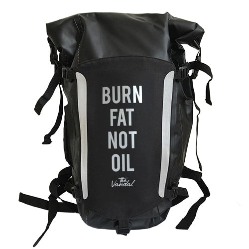 "WATERPROOF BACKPACK  -VANDAL ""BURN FAT NOT OIL"""