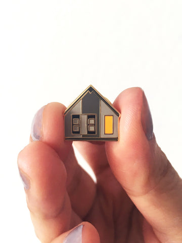 Log Cabin Pin