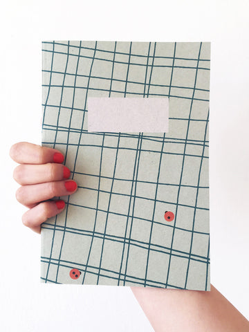 Cacti Grid A5 Notebook
