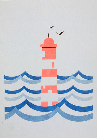 Lighthouse A5 Print