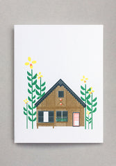Log Cabin Mini Card