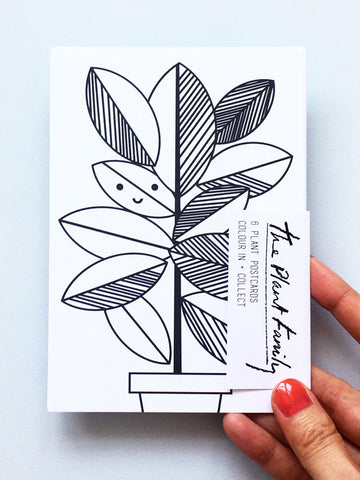 NEW The Plant Family Colouring Postcard Set