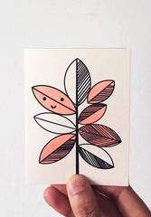 Rubber Plant Mini Card