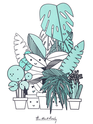 The Plant Family A3 Print