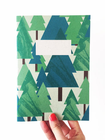 Woodland Treehouse A5 Notebook