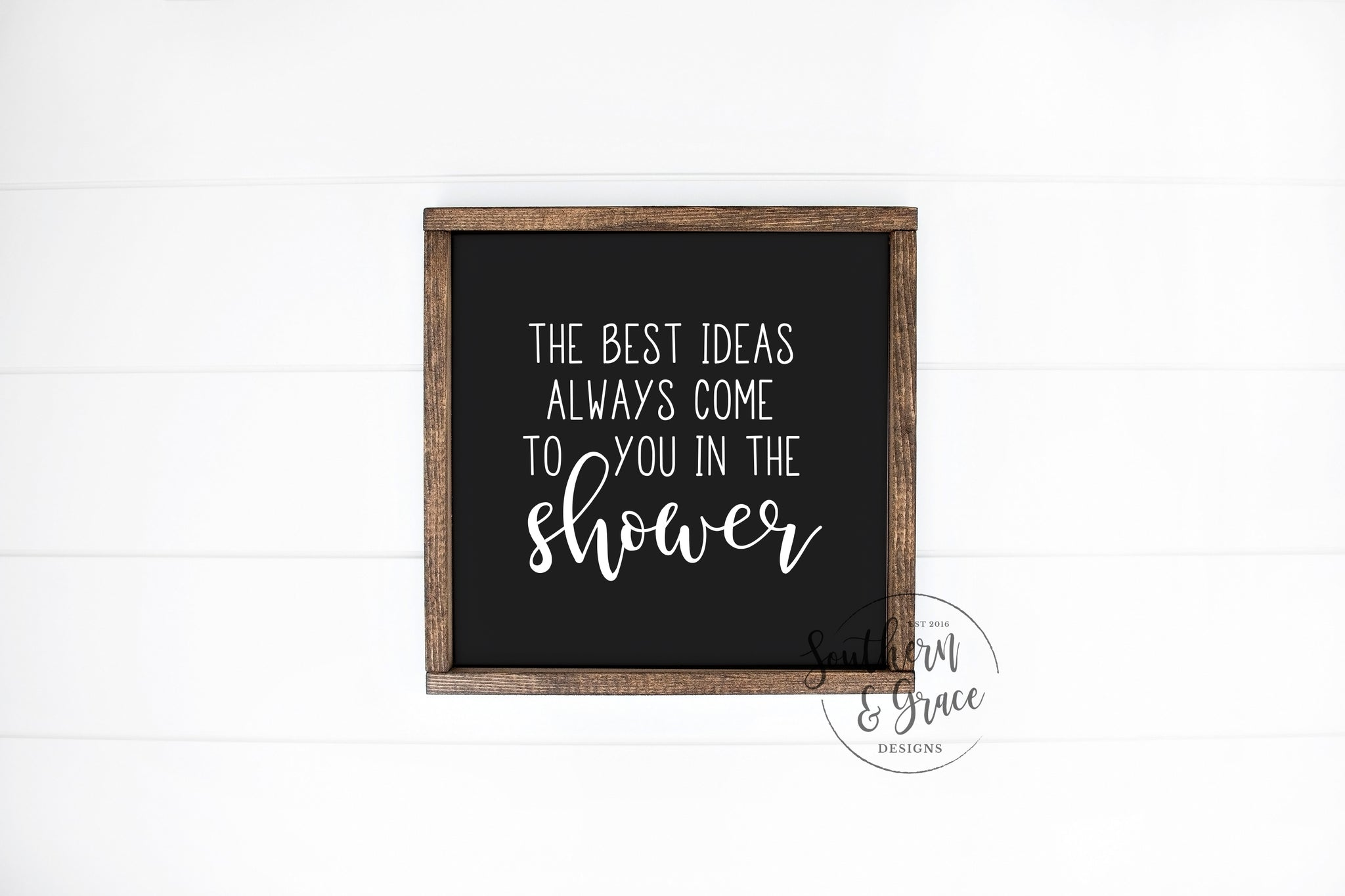 The Best Ideas Framed Wood Sign