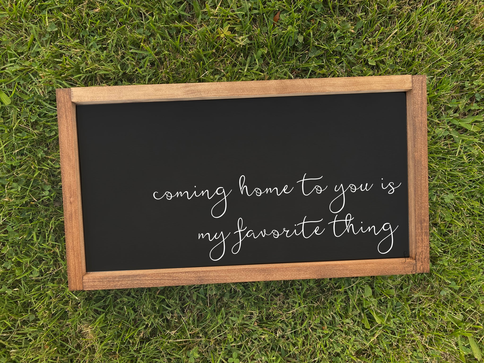 Coming Home To You Framed Wood Sign