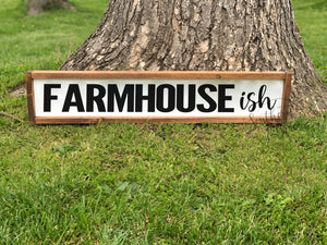 Farmhouse-ish Framed Wood Sign