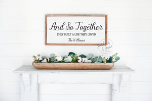 And So Together (Personalized)