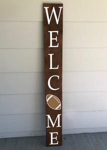 Welcome Football Porch Sign