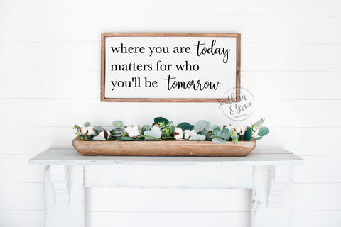 Where You Are Today