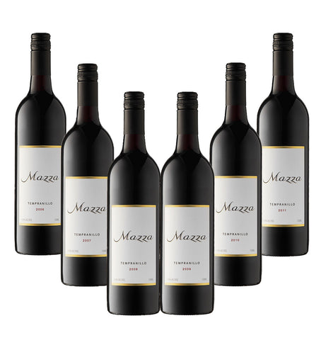 Tempranillo Vertical Tasting six pack - one bottle each of six different vintages