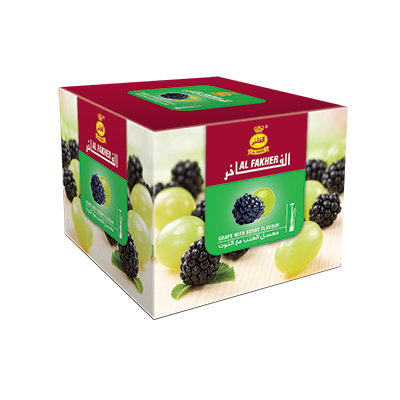 Al Fakher Shisha Tobacco Grape with Berry - - Shishamore.com