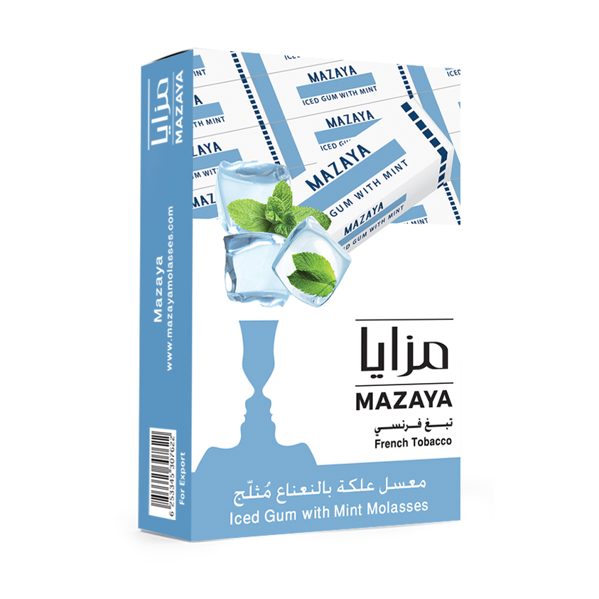 Mazaya Shisha Tobacco Iced Gum with Mint - Lavoo Design