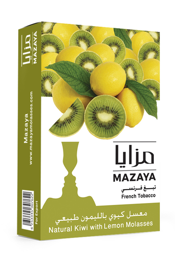 Mazaya Shisha Tobacco Kiwi with Lemon