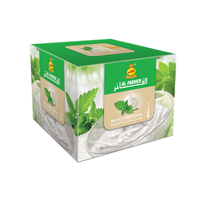 Al Fakher Shisha Tobacco Mint with Cream - - Shishamore.com
